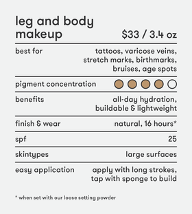 New! Leg and Body Makeup