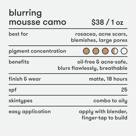Blurring Mousse Camo Oil-Free Foundation