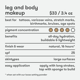 Leg and Body Makeup